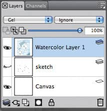 Layers panel WC layer1 sketch hidden