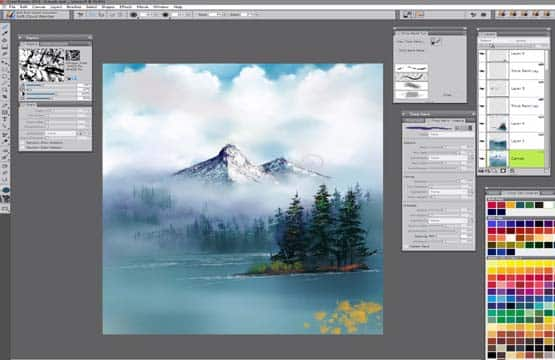 Software für Digitalkunst und Malerei - Corel Painter 2018