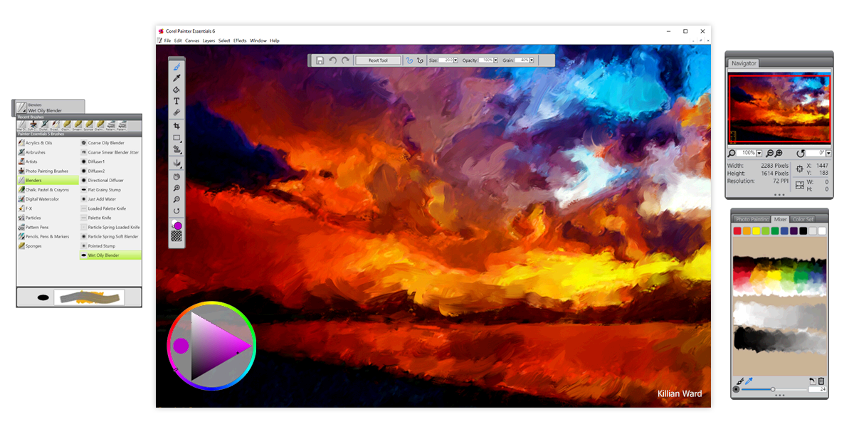 Paint program for beginners - Corel Painter Essentials 6